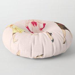 1950's Girls Floor Pillow