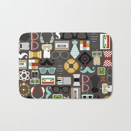 Quirky Robots Bath Mat