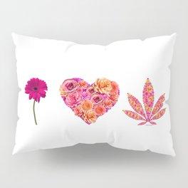 i Heart Pot Leaf Pillow Sham