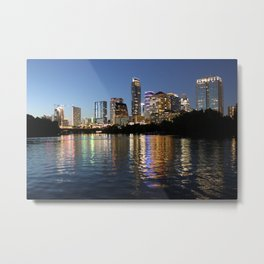 Austin, Texas skyline - city lights Metal Print