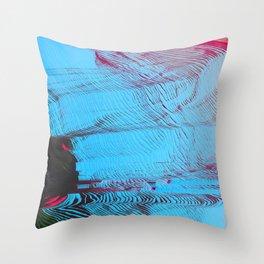 MEMORY MOSH - Glitch Art Print Throw Pillow