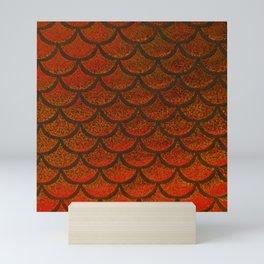 Bronze Brick Scales Mini Art Print