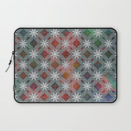 Abstract Star Flower Pattern Laptop Sleeve