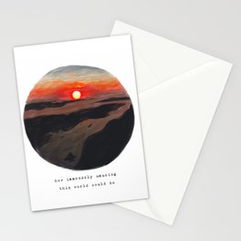 Sunset from above Stationery Cards