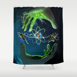 The Atom Control Shower Curtain