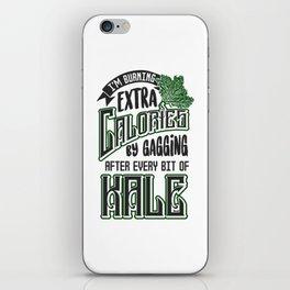 Gagging on Kale Art for Vegans Vegetarians on Diet Light iPhone Skin