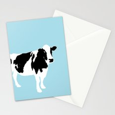 Cow on blue Stationery Cards