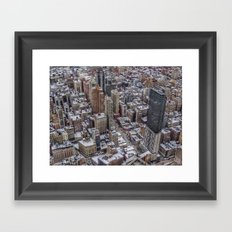 Snowy Tops Framed Art Print