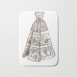 Wedding dress drawing, bridesmaids gift, Wedding dress sketch Bath Mat