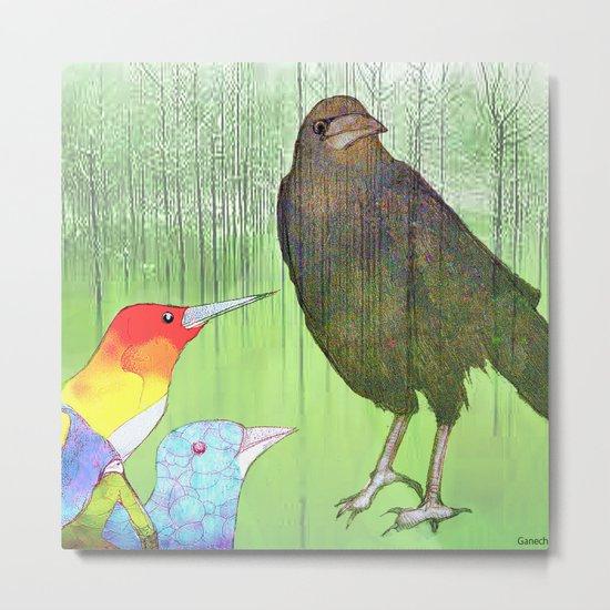 Le roi corbeau Metal Print