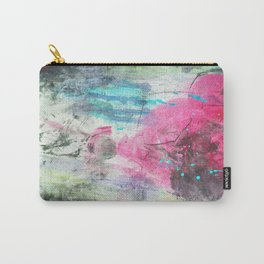 Grunge magenta teal hand painted watercolor Carry-All Pouch