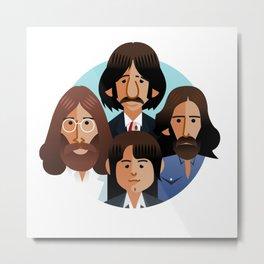 john-paul-george-ringo-1969 Metal Print