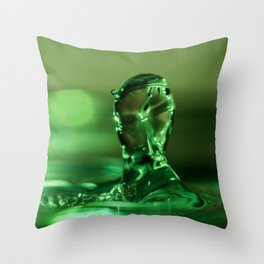 The Water Warrior Throw Pillow
