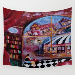 Talking Buildings Wall Tapestry