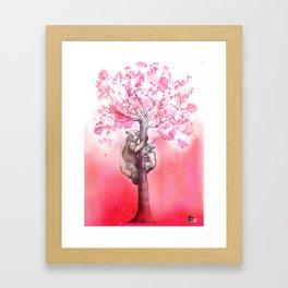 Spring Bears Framed Art Print
