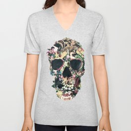 Vintage Skull Unisex V-Neck