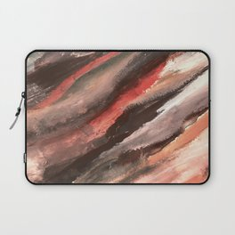 Moving Mountains: an abstract mixed media piece in contrasting pinks, purples, blues, and whites Laptop Sleeve