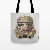 trooper Tote Bags featuring STRAWBEЯRY TROOPER by Beardy Graphics