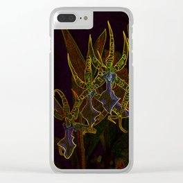 Star Orchids Clear iPhone Case