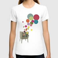 tv T-shirts featuring Colour Television by Cassia Beck