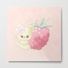 Raspberry Cutie Bear Metal Print