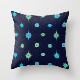 Stars Bright in a Midnight Sky (pattern) Throw Pillow