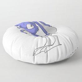 Lavender/Color-Or-Paint-Your-Own Reptilian Bird #ArtofGaneneK #Animal Floor Pillow