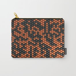Pattern of black and orange spheres Carry-All Pouch