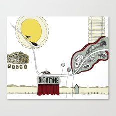 In the night time Canvas Print