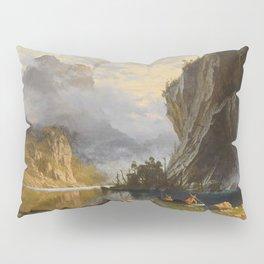 Albert Bierstadt - Indians Spear Fishing (1862) Pillow Sham