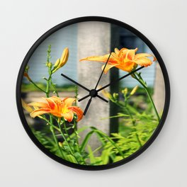 Growing Lilys Wall Clock