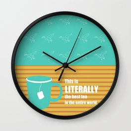 Pawnee Tea Wall Clock
