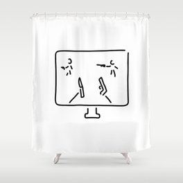 egoshooter computer game shooting game Shower Curtain
