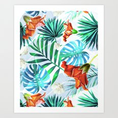 Tropical fiesta - sunset Art Print