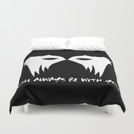 I WILL ALWAYS BE WITH YOU (white) Duvet Cover