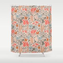 Mongolian Expanse Pattern Shower Curtain