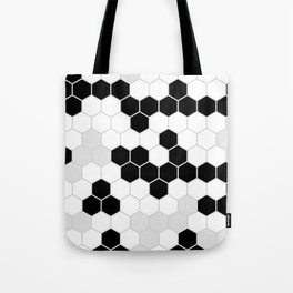 Honeycomb Pattern | Black and White Design | Minimalism Tote Bag