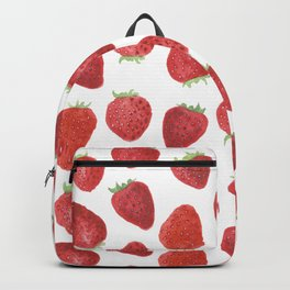 Strawberries watercolor Backpack