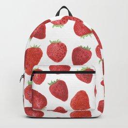 Strawberries watercolor Backpack