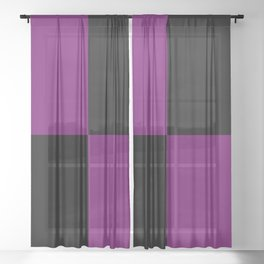 Psychedelic black and purple XIII. Sheer Curtain