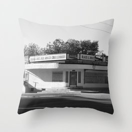 Black and White Grocery 1 Throw Pillow