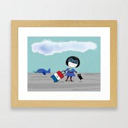 Bluey's Trois Couleurs Framed Art Print