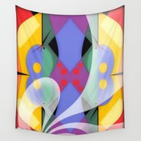 milky way Wall Tapestries featuring Milky Way by Kristine Rae Hanning