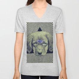 Psychedelic Demon Dog Unisex V-Neck