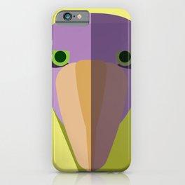 Purple Shoebill Stork Icon iPhone Case
