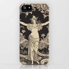 A Garland for May Day by Walter Crane, 1895 iPhone Case