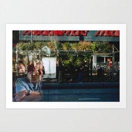 Greener Busses - overlapper Art Print