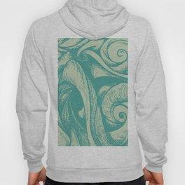 swirl (green and tan) Hoody