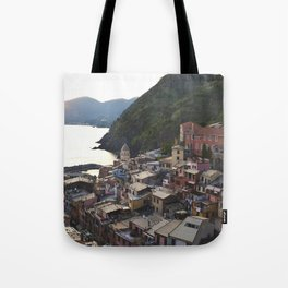 Sunset over Vernazza, Italy Tote Bag