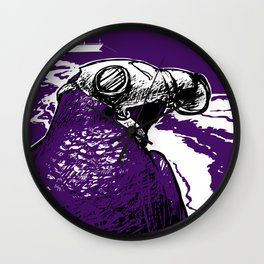 Trash Birds - Oil Pollution Wall Clock